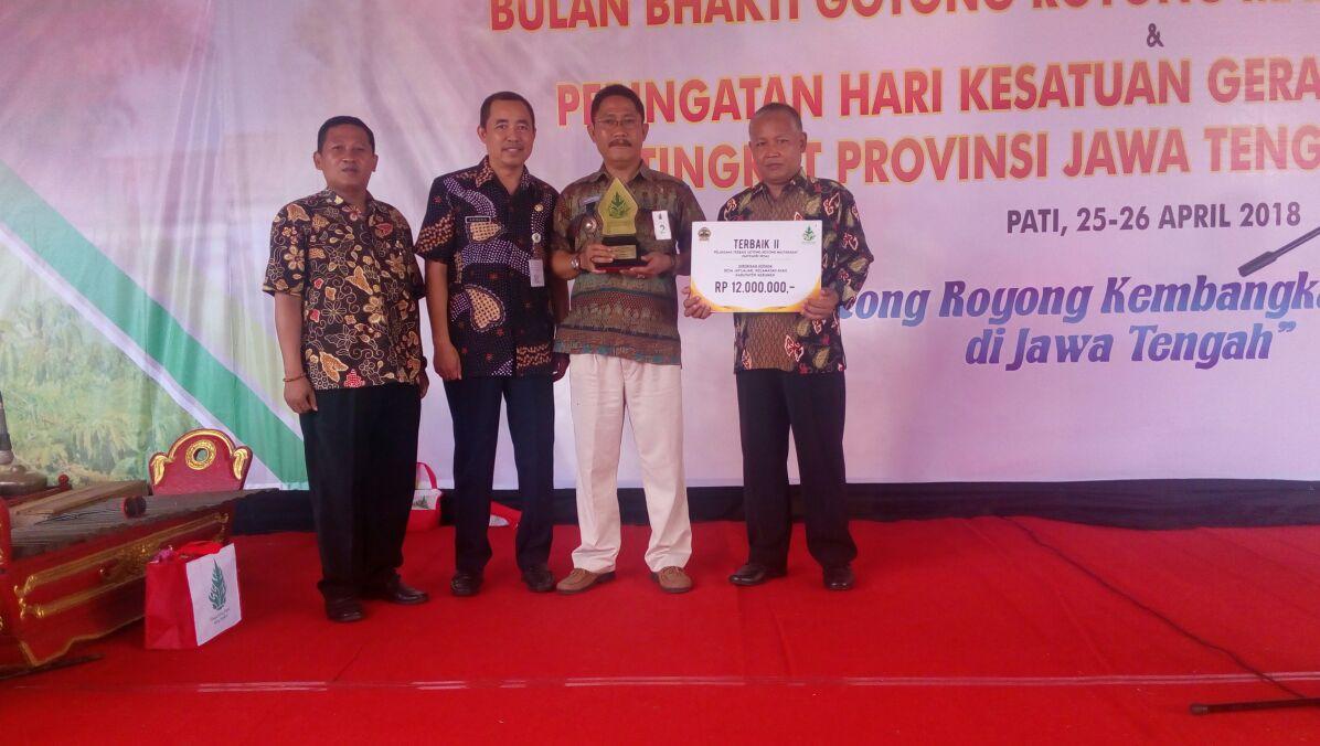 Pencanangan Bulan Bhakti Gotong Royong Masyarakat Provinsi Jawa Tengah Tahun 2018